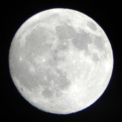 cropped moon